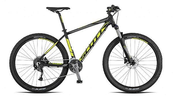 Bicicleta Scott Aspect 940 MTB 29er Shimano 27Vel Disco Hidraulico Amarelo Preto 2017