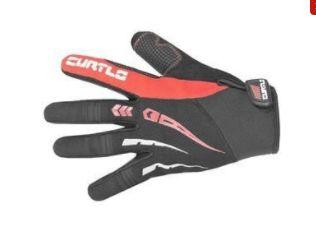 Luva Curtlo Sprinter de Ciclismo Unissex MTB Speed Lazer Dedo Longo Preto Vermelho