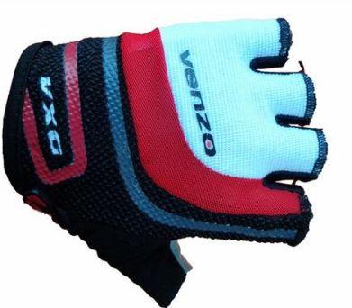Luva Venzo VXG de Ciclismo Unissex MTB Speed Lazer Dedo Curto Vermelho Branco