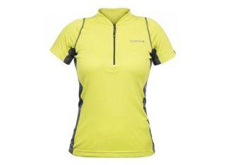 Camisa Curtlo Sprinter MC de Ciclismo Feminina Manga Curta Verde Limão
