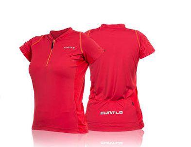 Camisa Curtlo Sprinter MC de Ciclismo Feminina Manga Curta Vermelho