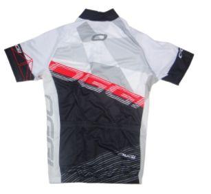 Camisa Oggi Hacker de Ciclismo Masculina Manga Curta Preto Branco Vermelho