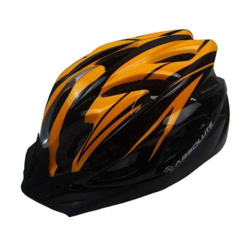 Capacete Absolute de Ciclismo MTB Lazer com luz traseira Laranja Preto