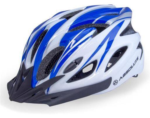 Capacete Absolute de Ciclismo MTB Lazer com luz traseira Branco Azul