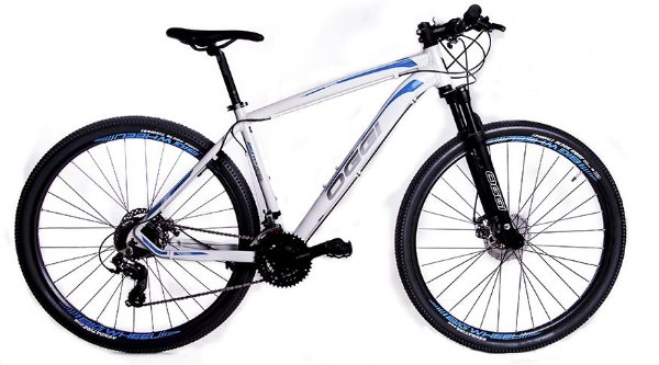 Bicicleta Oggi Big Wheel 7.0 MTB 29er Shimano 24Vel Disco Mecanico Branca