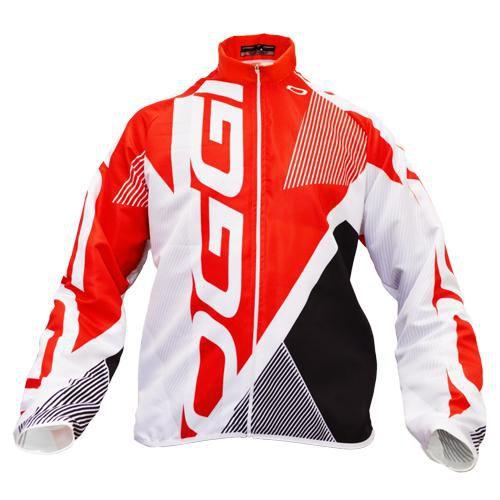 Jaqueta Oggi Agile Winter Frio Intenso Tecido Fleece Segunda Pele Branco Vermelho Preto