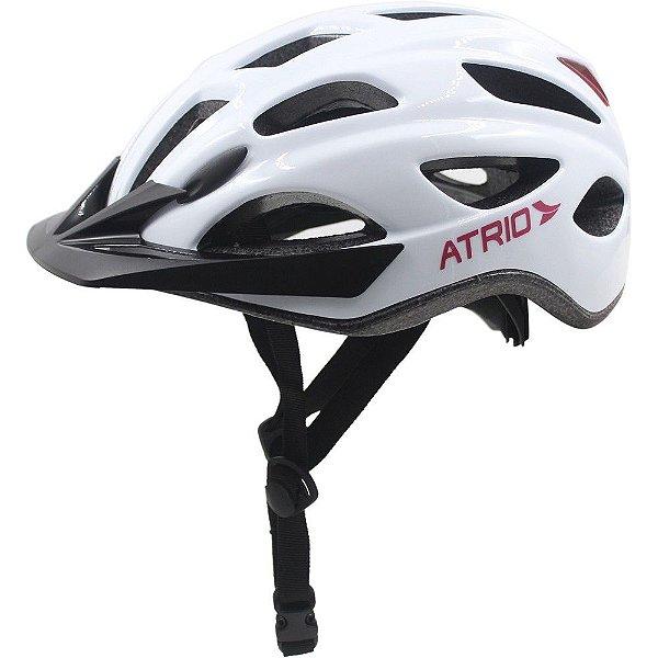 Capacete Atrio 2 Leds Ciclismo MTB Lazer Branco Rosa