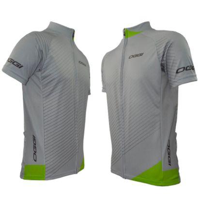Camisa Oggi Veloce de Ciclismo Cinza Verde