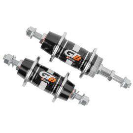 Par de Cubos D/T GTB Aluminio V-Break Roda Livre  6,7 velocidades Eixo Porca de Rolamento 36 Furos Preto