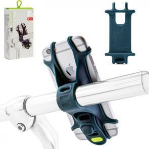 """Suporte para Celular Bike Tie em Silicone para celular de 4"""" a 6 """" Azul"""