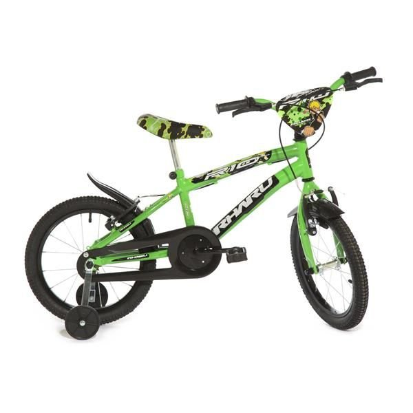 Bicicleta Infantil Rharu Aro 16 Roda Aluminio Verde Preto