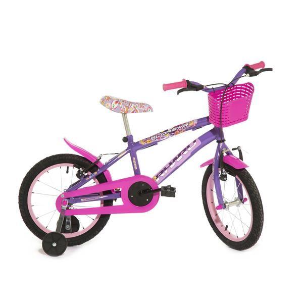 Bicicleta Infantil Rharu Aro 16 Roda Aluminio Lilas Flower