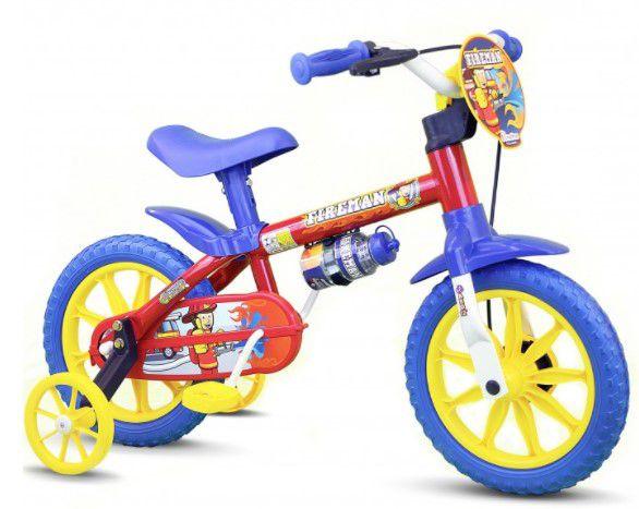 Bicicleta Infantil Nathor Aro 12 Fireman 7 Vermelho