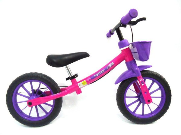 Bicicleta Nathor Balance Feminina Lilas Rosa