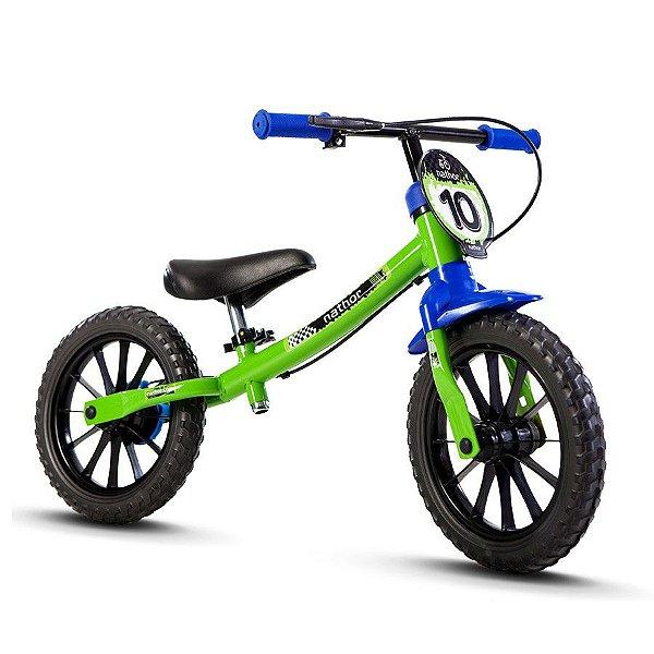 Bicicleta Nathor Balance Masculina Verde Azul