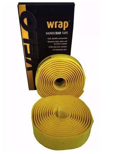 Fita de Guidão Velo Wrap VLT-001SG EVA com Gel Tape Amarelo Speed Road