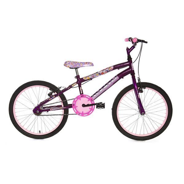 Bicicleta Infantil Rhahu Aro 20 Roda Aluminio Violeta Flower