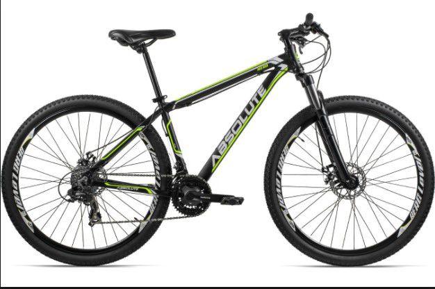 Bicicleta Absolute Nero aro 29 Aluminio Disco 21 Velocidades Yamada Preta Amarela Branca