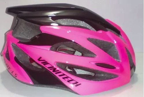 Capacete Vicinitech Elite-LS de Ciclismo Mtb Lazer Urbano Tamanho Unico Rosa Preto