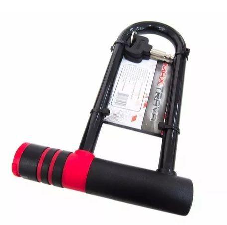Cadeado Max Trava MXTRA0015 Trava U-Lock Barra de Aço de Chave 145mm x 210mm Comprimento Preto