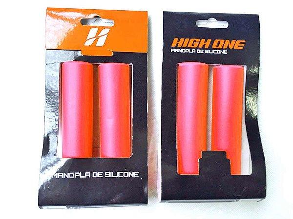 Manopla High One MTB de Silicone 135mm Vermelho