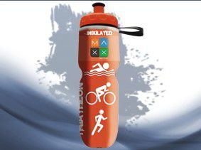 Garrafa Térmica Maxx Bottle Sport Triathlon 700ml Laranja
