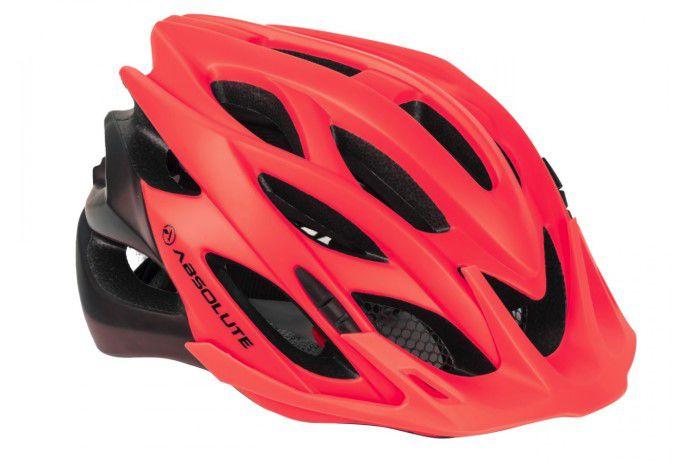 Capacete Absolute Wild de Ciclismo Lazer com luz traseira Vermelho Preto tam M/G