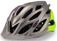 Capacete Absolute Wild de Ciclismo Lazer com luz traseira Cinza Verde Fosco tam M/G