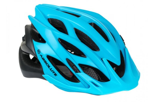 Capacete Absolute Wild de Ciclismo Lazer com luz traseira Azul Preto tam M/G