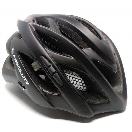 Capacete Absolute Wild de Ciclismo Lazer com luz traseira Preto Fosco tam M/G