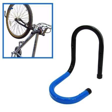 Suporte de parede Vertical Preto e Azul para 1 Bike
