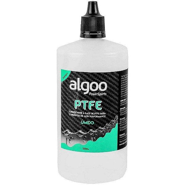 Óleo Lubrificante Algoo PTFE Úmido Teflon para Bicicletas Frasco 200ml