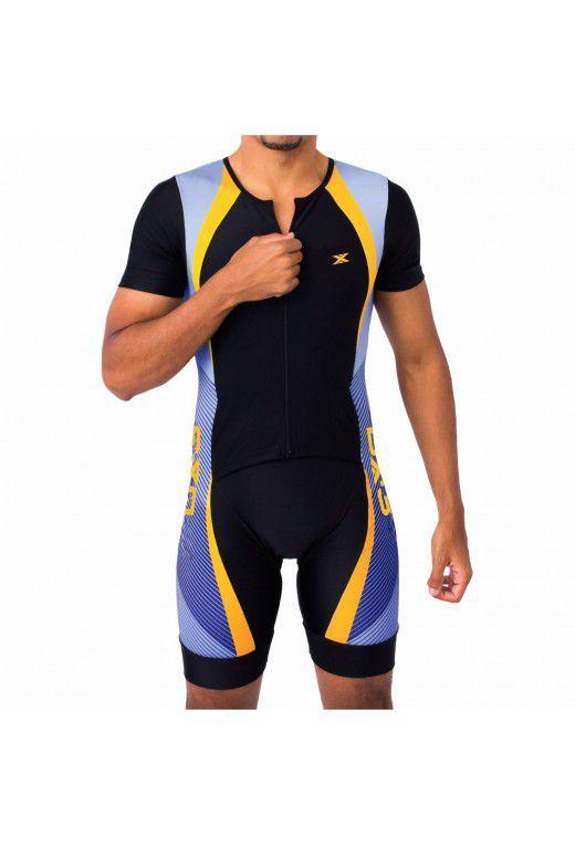 Macaquinho DX-3 Ciclismo Performance Masculino Preto Azul