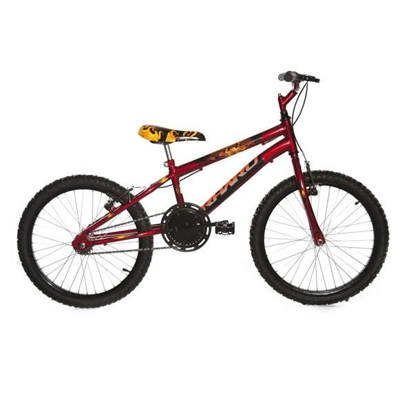 Bicicleta Infantil Rharu Aro 20 Roda Aluminio Vermelho Preto