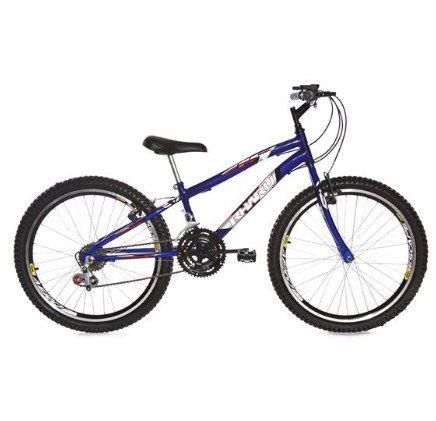 Bicicleta Rharu Aro 24 Azul Com Marcha 21Velocidades Roda Aero quadro Rebaixada
