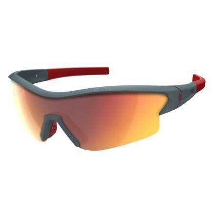 Oculos Scott SCO Leap Azul fosco e vermelho 2 lentes (vermelho espelhado e Trasnparente)