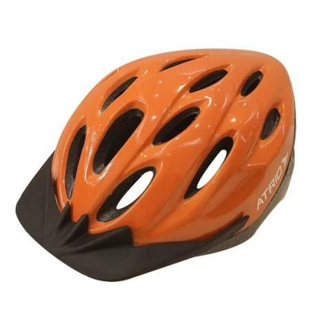 Capacete Atrio Ciclismo MTB Lazer Laranja com Led