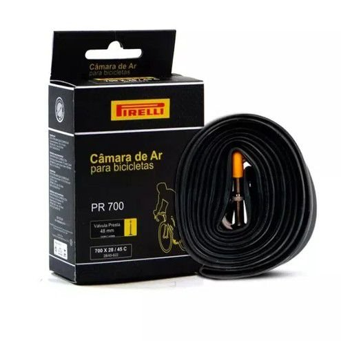 Camara de Ar Pirelli PR-700 700x28 / 45 Valvula Presta F/V 48mm