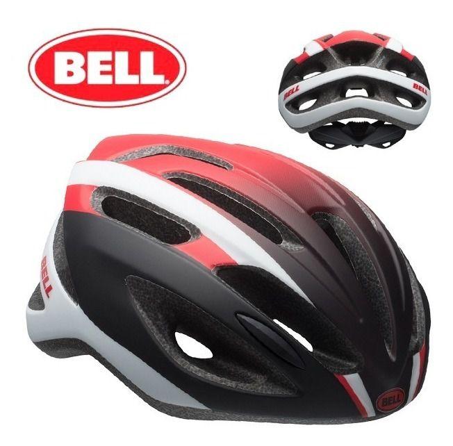 Capacete Bell Crest R De Ciclismo Mtb Lazer Urbano Branco Vermelho Preto Tam U