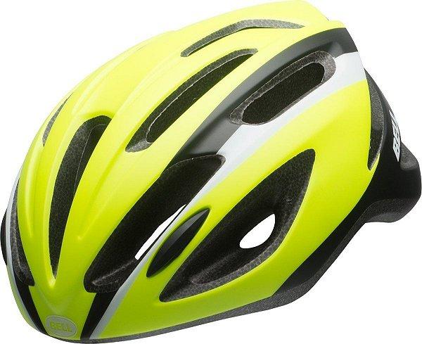 Capacete Bell Crest R De Ciclismo Mtb Lazer Urbano Amarelo Preto Tam U