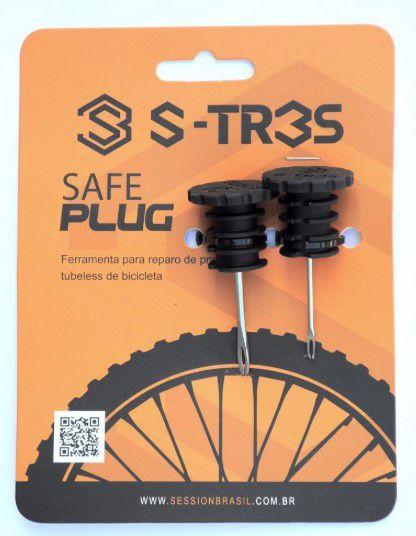 Safe Plug S-tres Kit Reparo Tubeless Para Guidão De Bicicleta