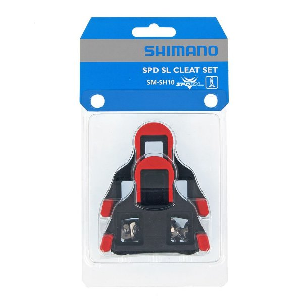Par de Tacos Shimano SM-SH10 0° para Pedal Speed SPD SL Clipless de Encaixe Vermelho