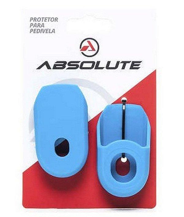 Protetor de Pedivela Absolute em Silicone para Bicicleta Road e MTB Azul
