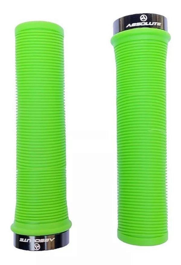 Manopla Absolute LG1 Borracha Verde com Trava