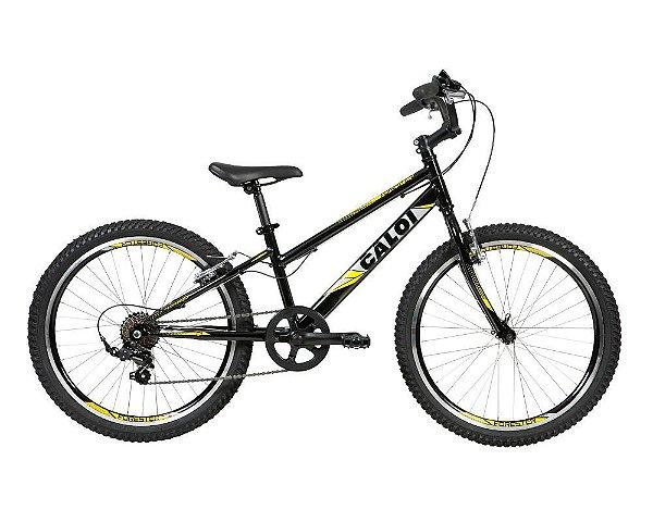 Bicicleta Caloi Forester Aro 24 7 V Preta