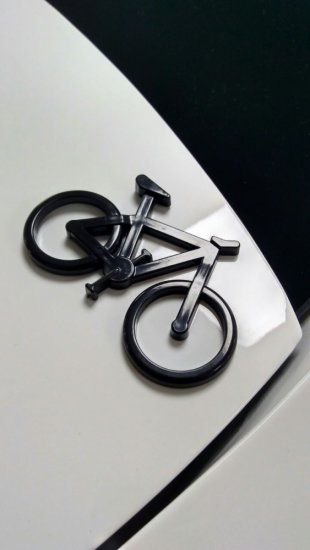 Adesivo para Carro Ictus Bike Preto Emblema