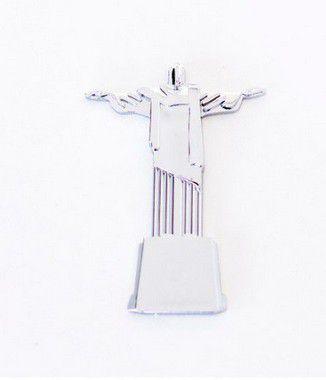 Adesivo para Carro Ictus Cristo Redentor Cromado Emblema