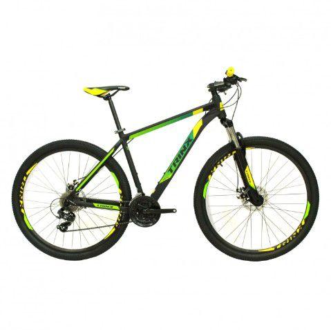 Bicicleta Trinx M100 pro Verde Amarelo Preto Tam 17