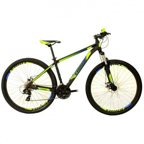 Bicicleta Trinx M100 pro Verde Azul Preto Tam 17