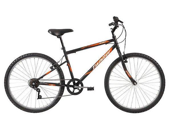Bicicleta Caloi Twister Easy aro 26 7V Aço Preto 2020